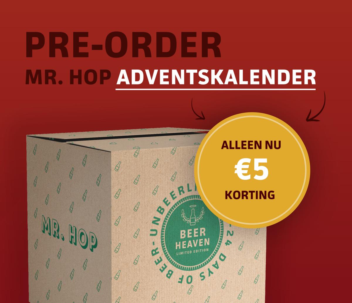 Pre-order nu onze Bier Adventskalender met korting
